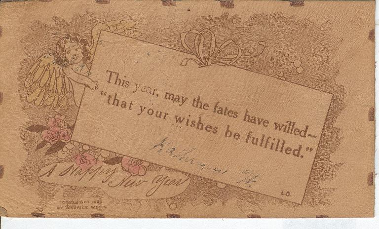 This year, may the fates have willed Postmarked 1907