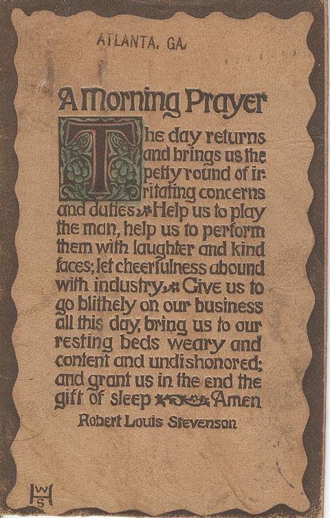 A Morning Prayer Postmarked 1907