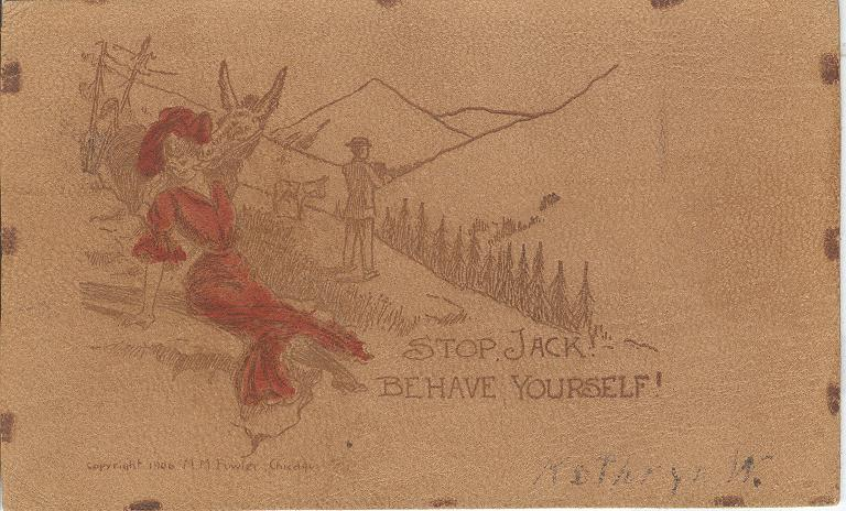 Stop, Jack! Behave Yourself! Postmarked 1900