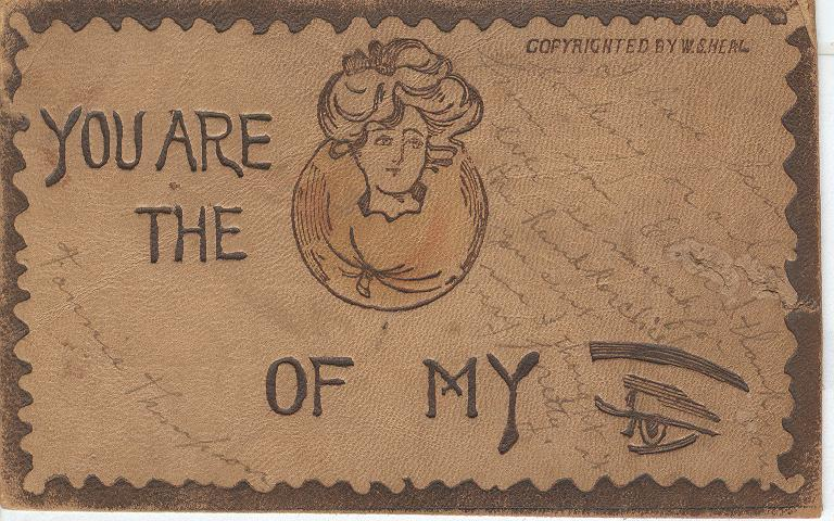 You are the apple of my eye Postmarked