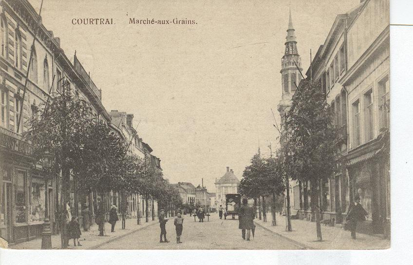 Courtrai Marche-aux-Grains Postmarked 1917