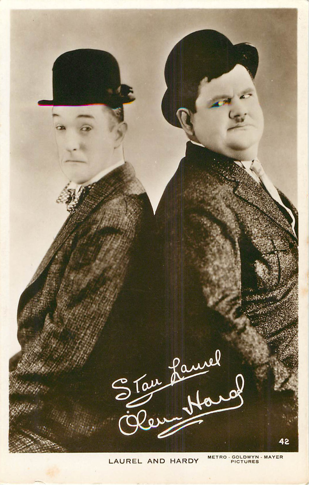 Laurel & Hardy - Signed Postcard