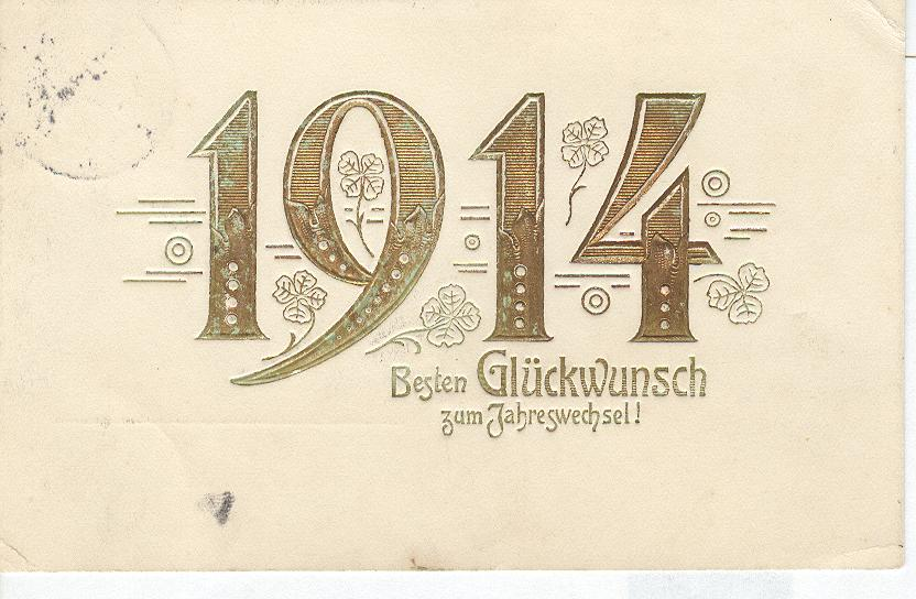 1919 A happy New Year Postcard - signed 12-25-1918
