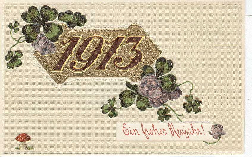 1913 Ein Frohes Meujahr new year postcard