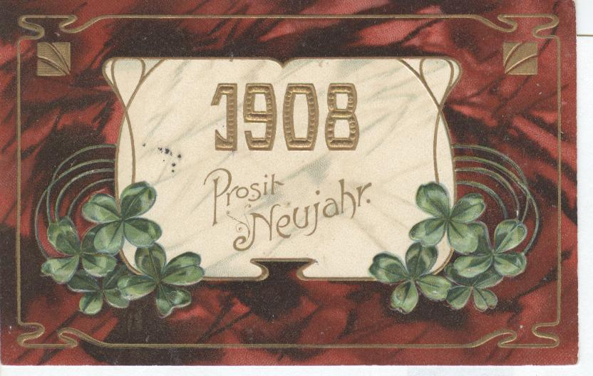 1918 New Year Postcard (German)