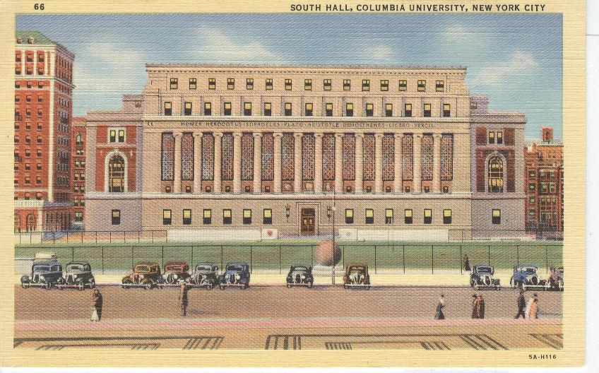 South Hall, Columbia University, New York City