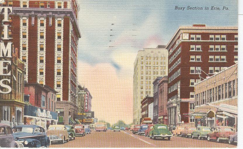 Erie postcard
