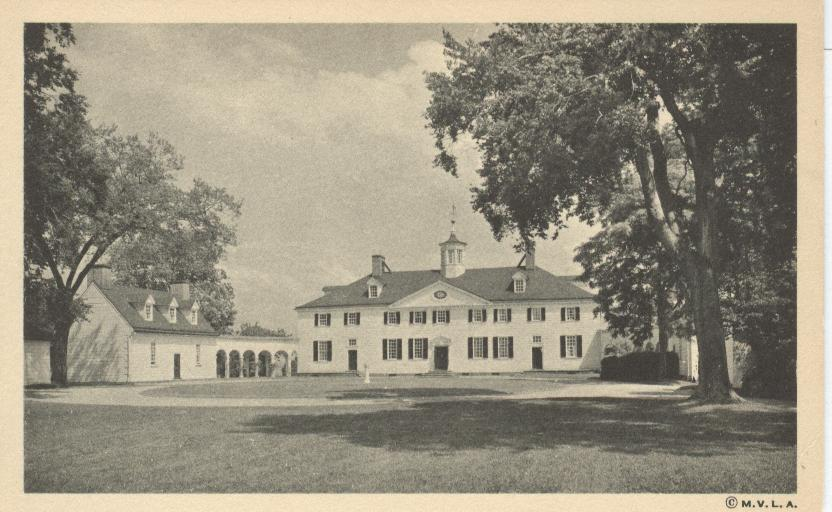 The Mount Vernon Mansion, West Front