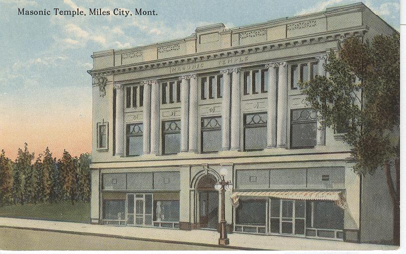 Masonic Temple, Miles City, Mont.