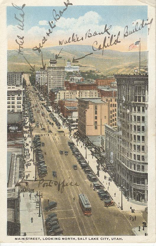 Maine Street, Looking North, Salt Lake City, Utah