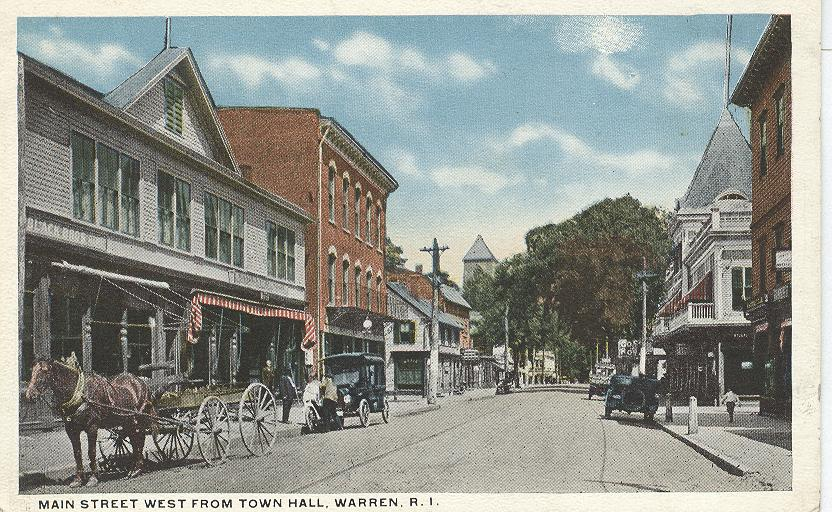 Main Street, West from Town Hall, Warren, R.I.