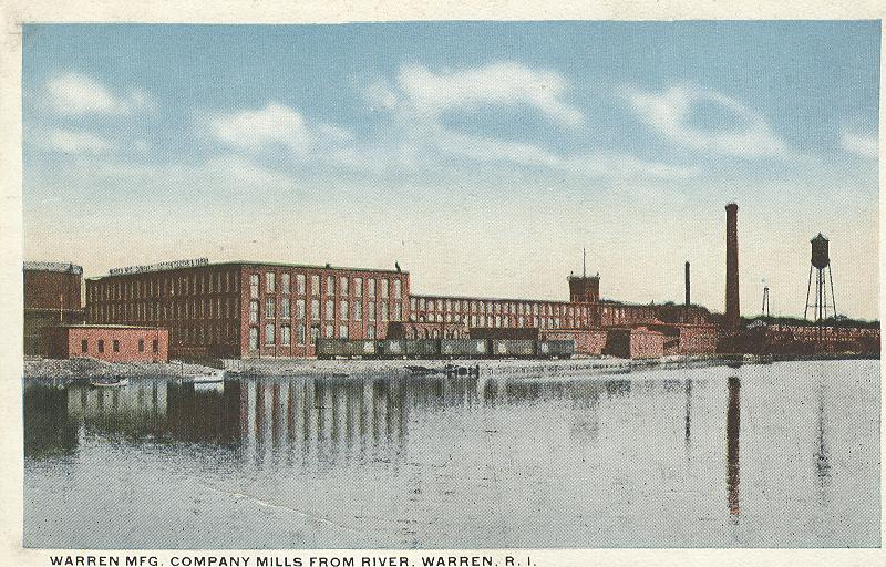 Warren Mfg. Company Mills from River, Warren, R.I.