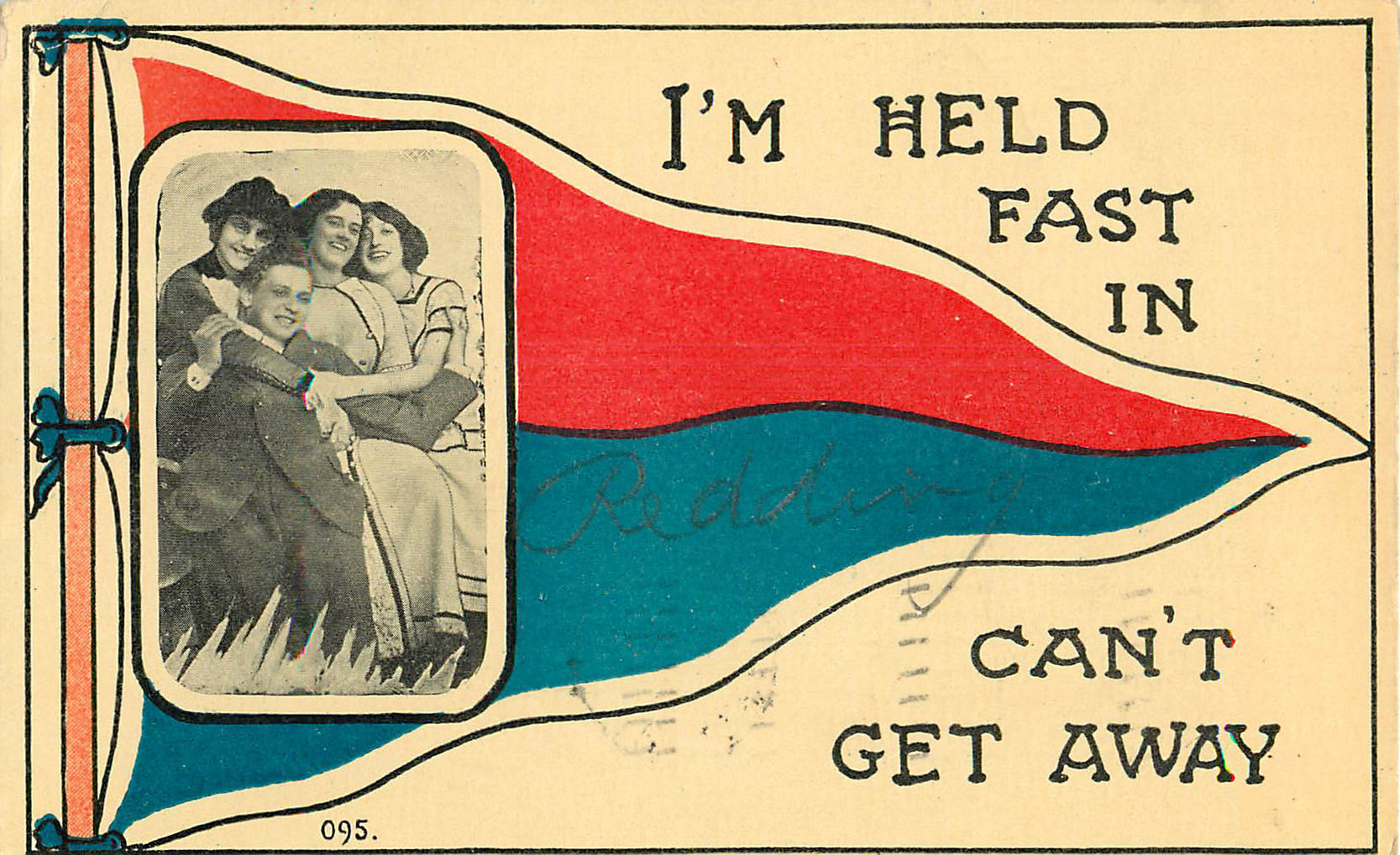 I'm Held Fast in Redding - Pennant Postcard