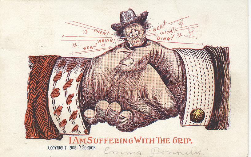 I Am Suffering With Grip Copywright 1908 by P.Gordon