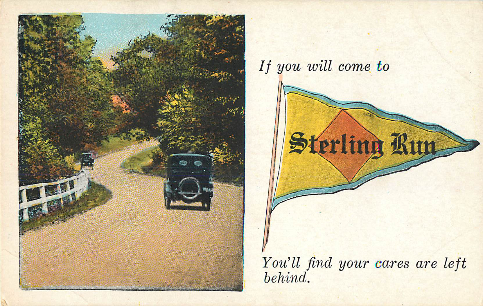 If you will come to Sterling Run - Pennant Postcard