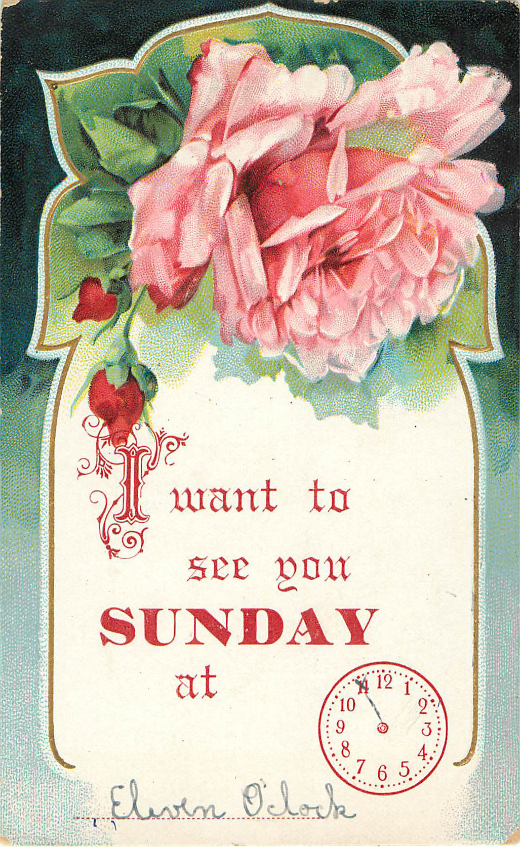 Sunday Appointment Card