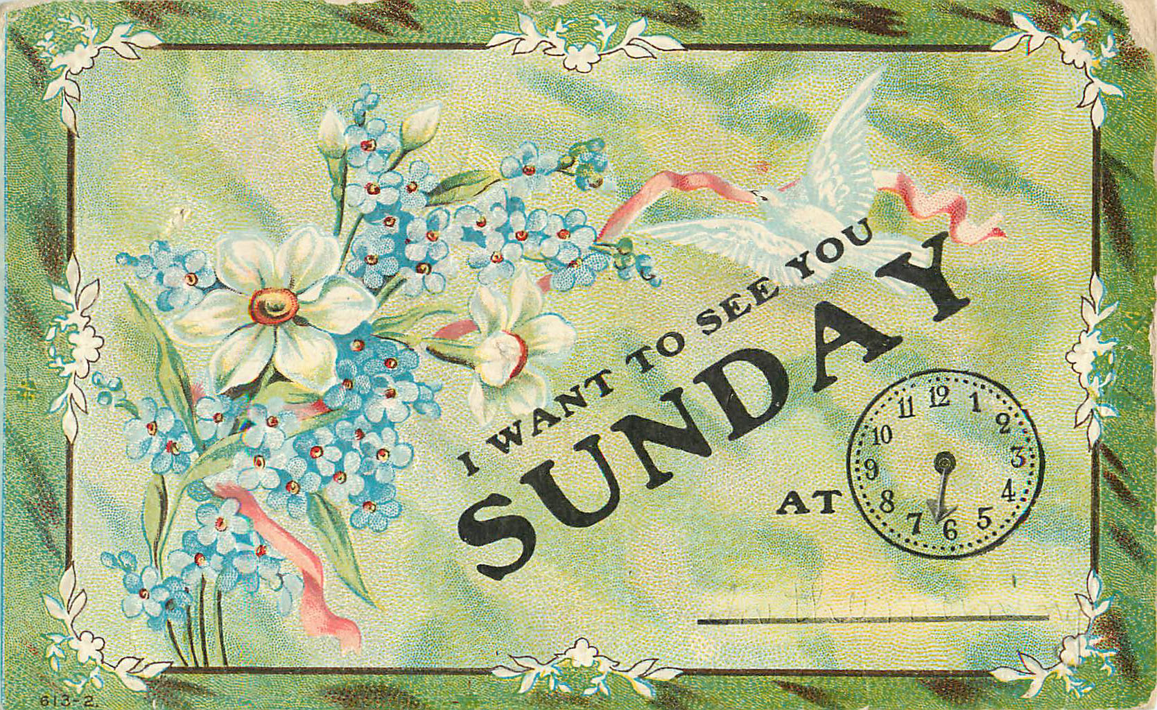 I Want to See You Sunday - Appointment Card