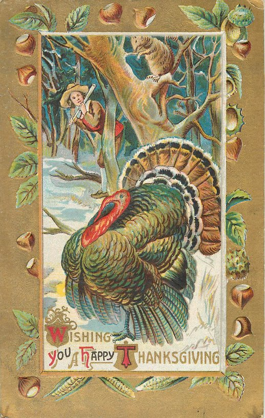 Thanksgiving Postcard - Wishing you a Happy Thanksgiving