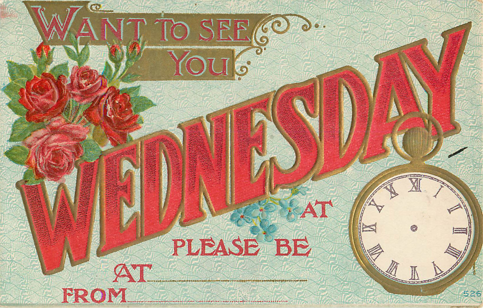 Want to See You Wednesday - Appointment Card