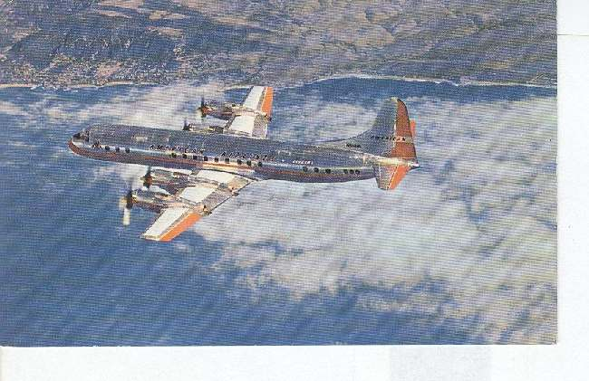 American Airliner Electra Flagship Postcard