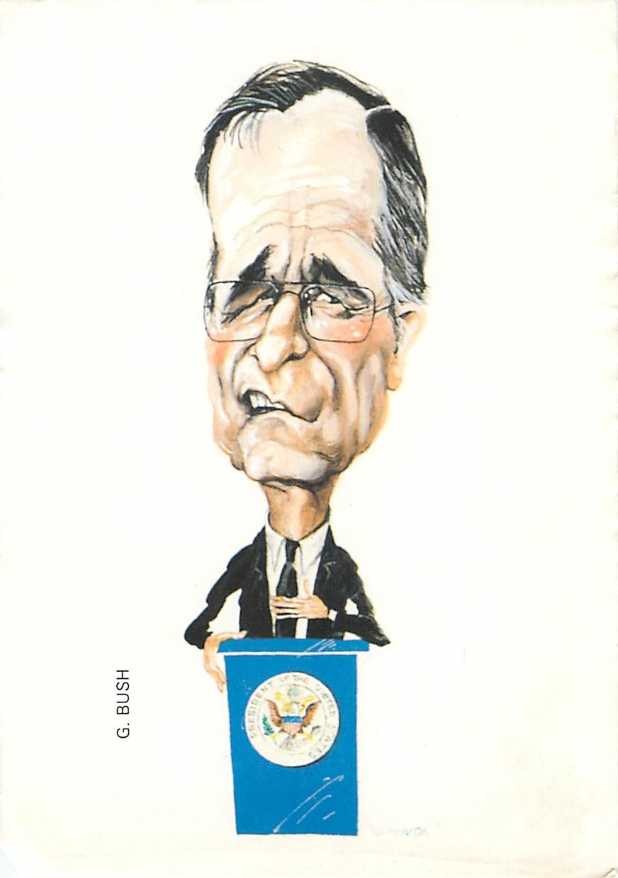 """G. Bush Caricature"""