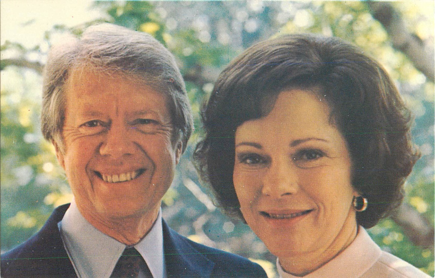 """President Jimmy Carter and First Lady Rosalynn"""