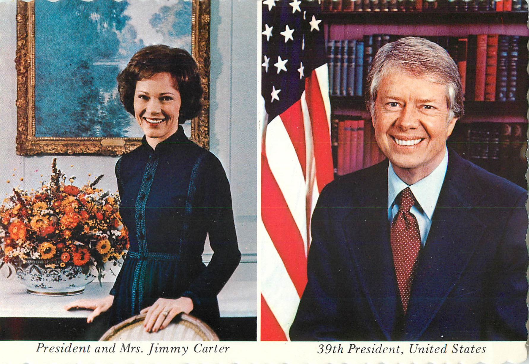 """39th President Carter and Mrs. Carter"""