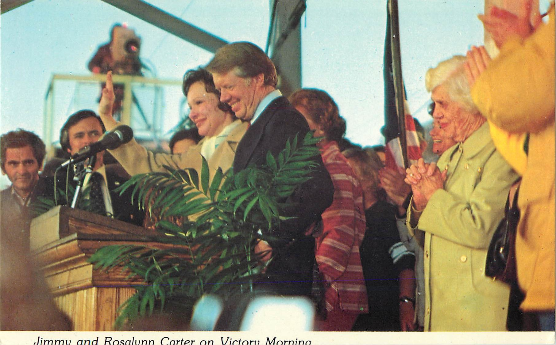 """Jimmy and Rosalynn Carter on Victory Morning"""