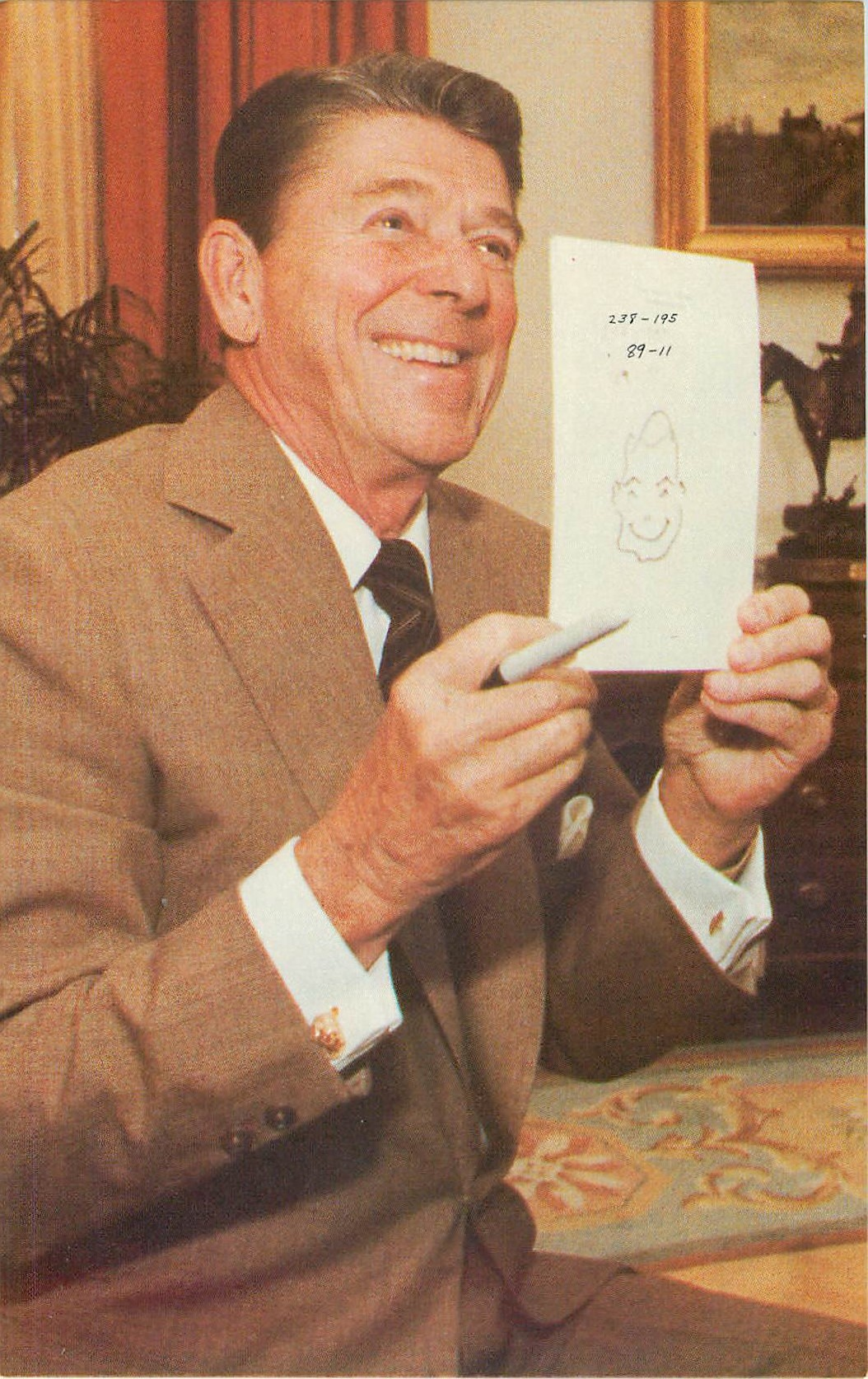 """Ronald Reagan Self Portrait"""