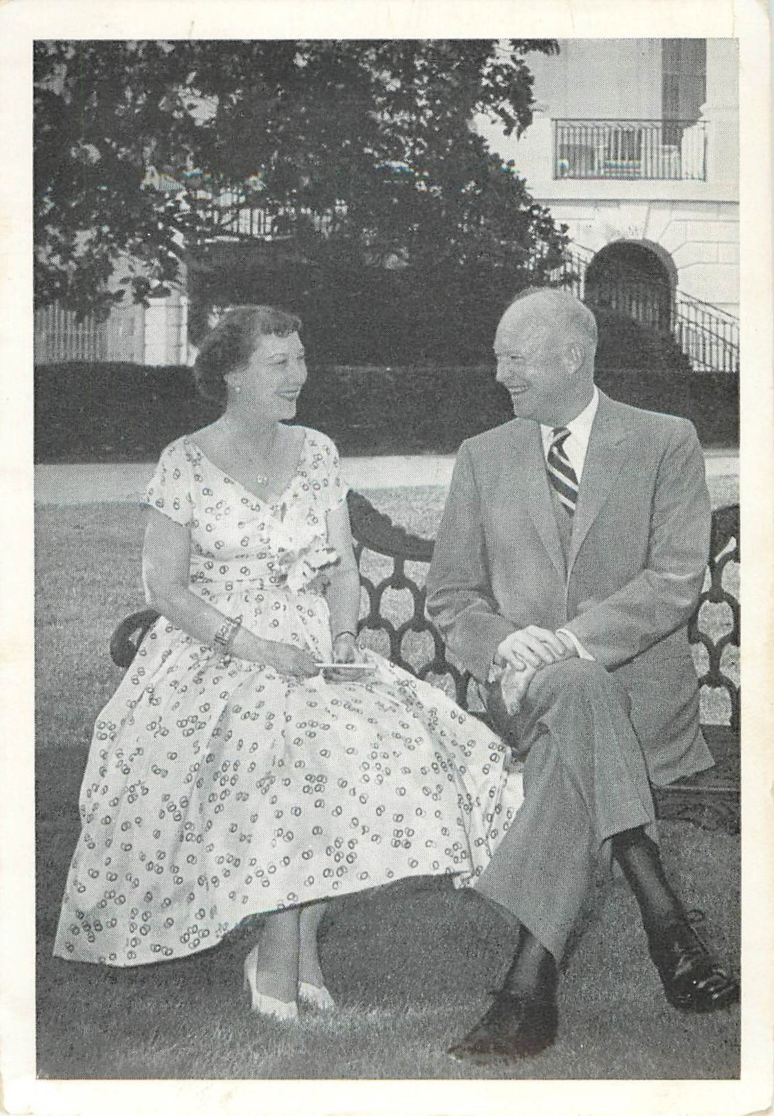 """President and Mrs. Eisenhower"""