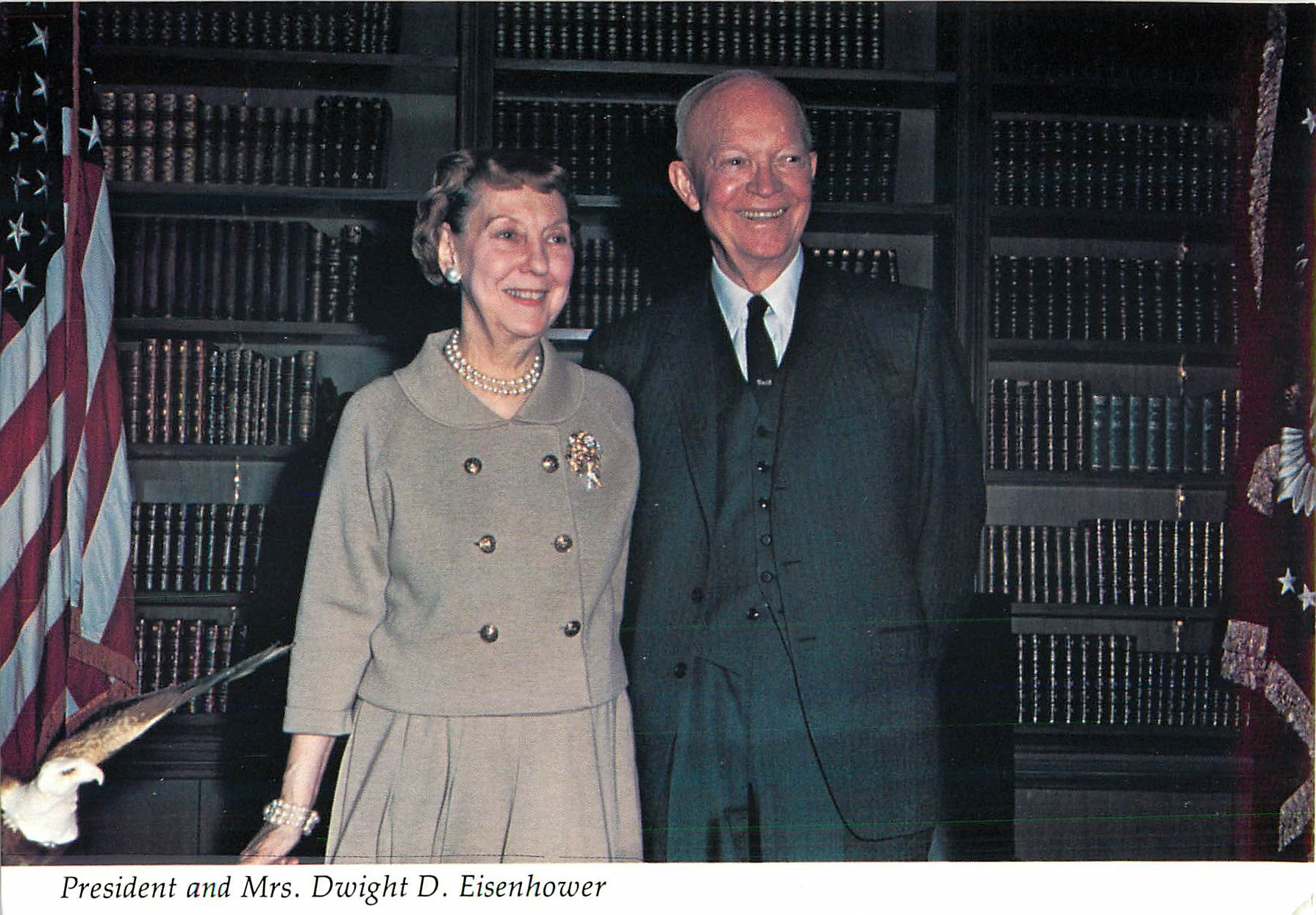 """President and Mrs. Dwight D. Eisenhower"""