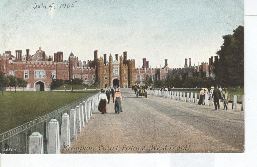 Hampton Court Palace (West Front) England July 4, 1905