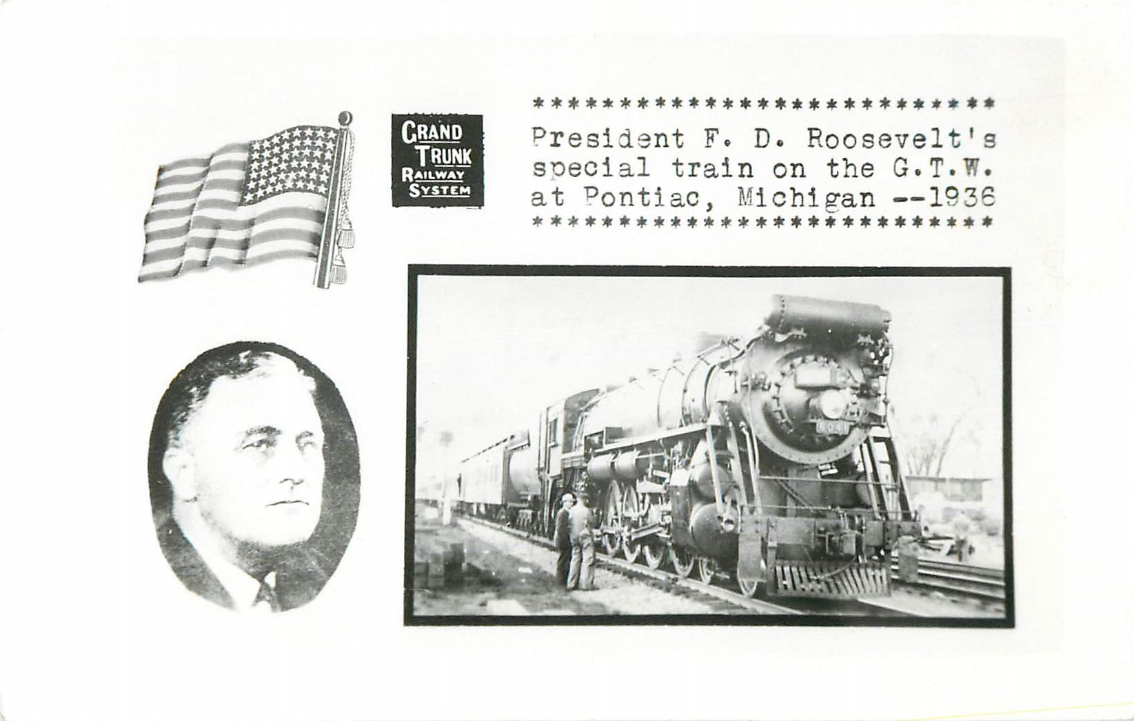 """President F.D. Roosevelt's Special Train on the G.T.W."""