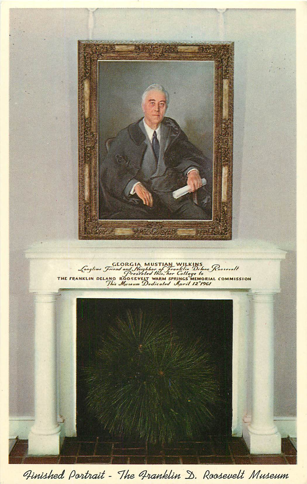 """Portrait of President Roosevelt - by Mme. Elizabeth Shoumatoff"""