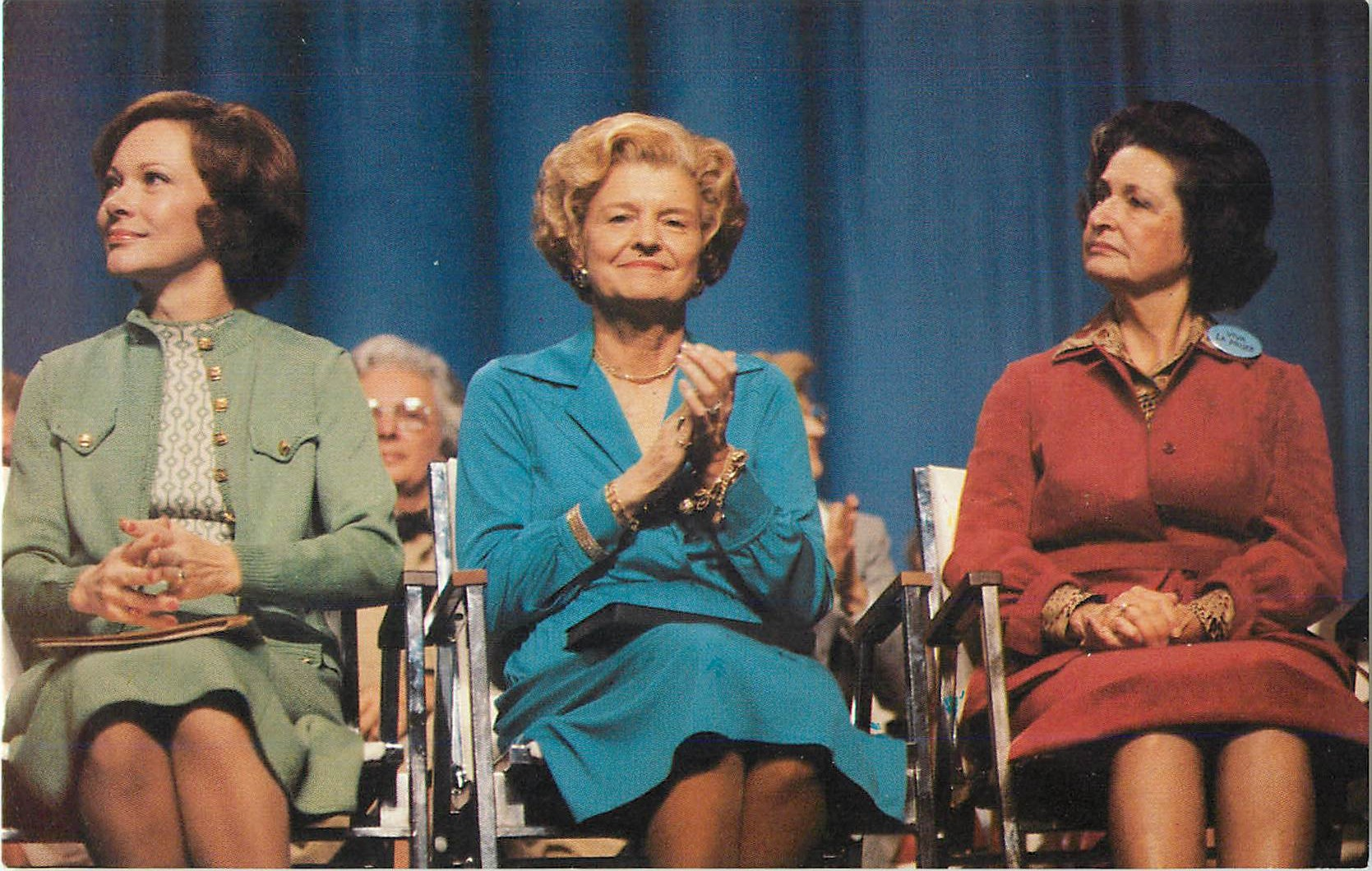Betty Ford, Rosalynn Carter, and Lady Bird Johnson