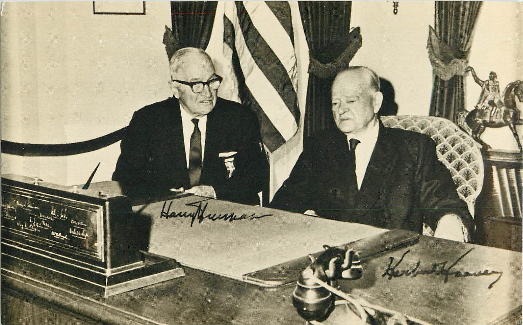 """Herbert Hoover and Harry S. Truman"""