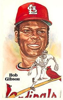 Bob Gibson Perez-Steele Galleries Baseball Postcard