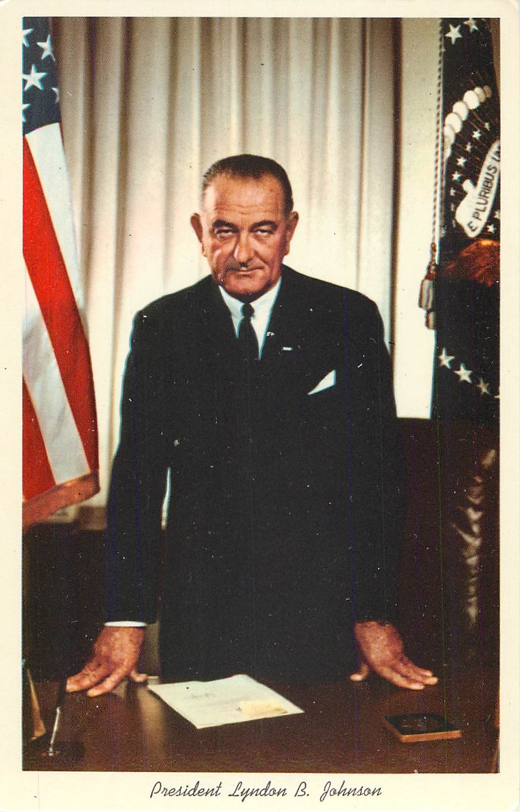 """Lyndon Johnson Portrait - by Madame Elizabeth Shoumatoff"" - Click Image to Close"