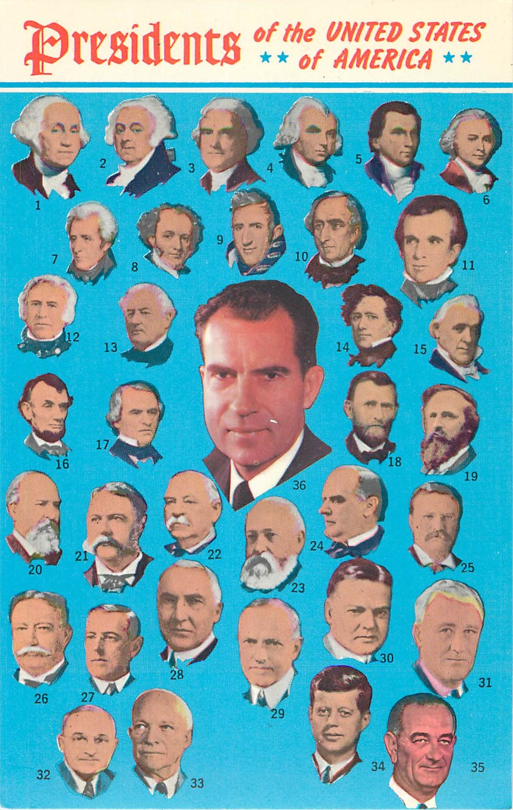 """Presidents of the United States - through Nixon"""