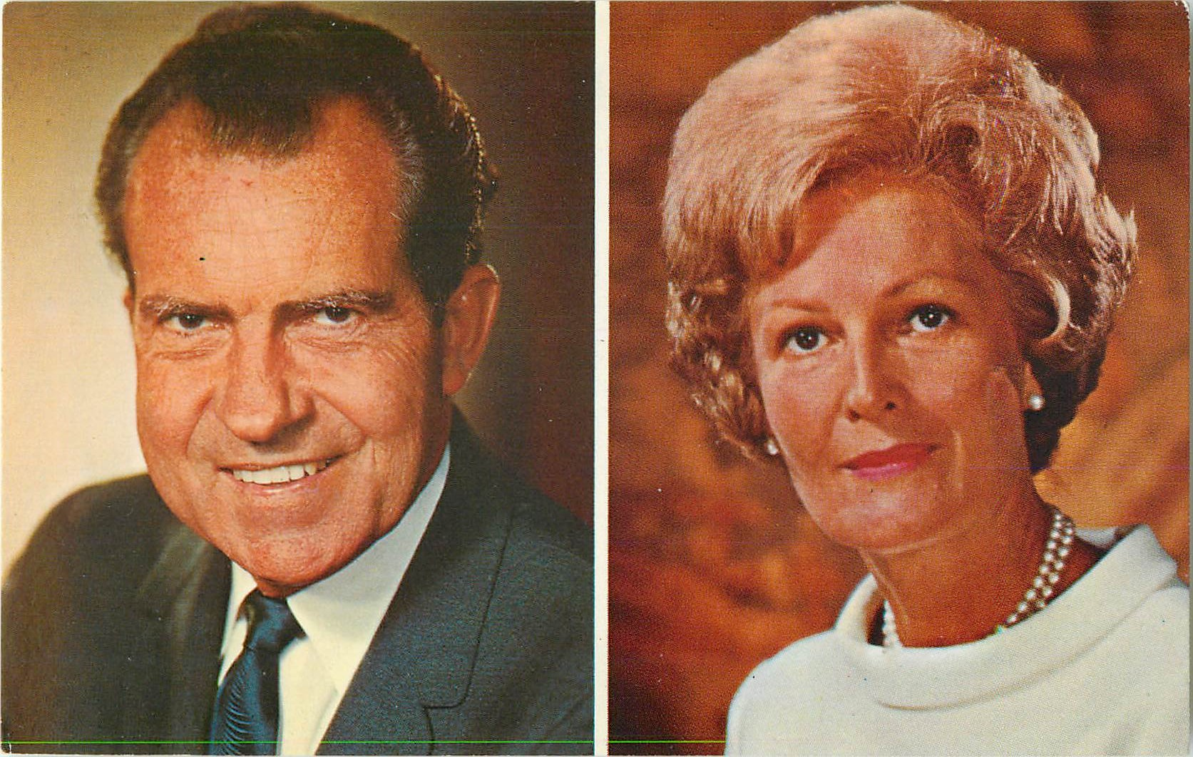"""President and Mrs. Richard M. Nixon"""