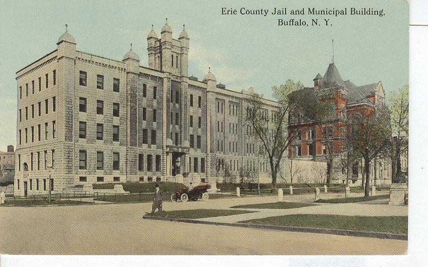 Erie County Jail and Municipal Building in Buffalo NY Postcard