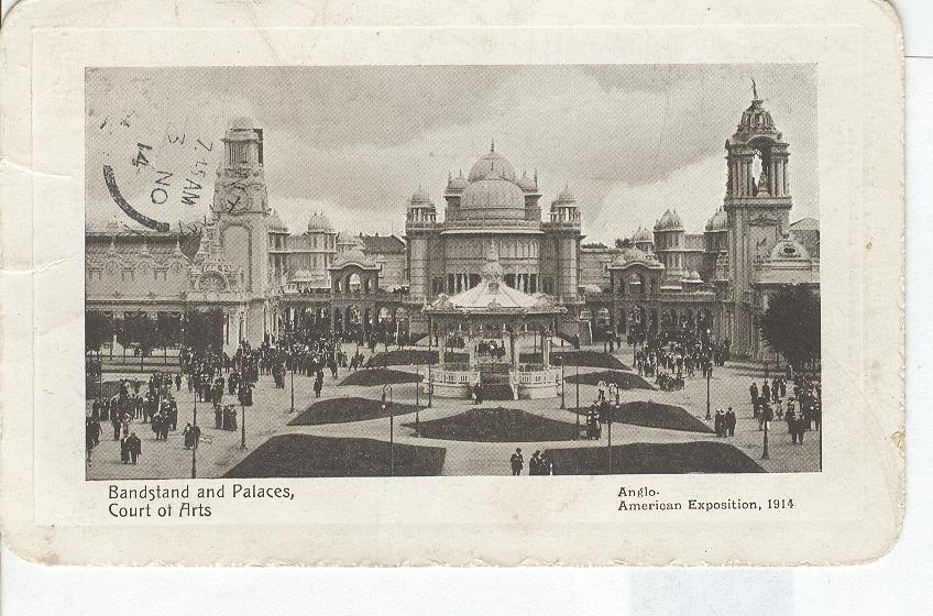 Bandstand & Palaces, Court of Arts,American Exposition, 1914