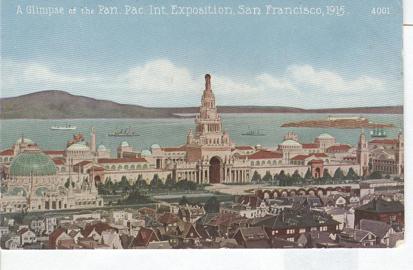 A Glimpse of the Pan.Pac Int. Expo San Francisci 1915