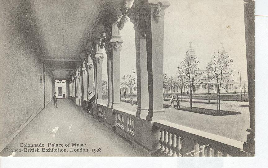 Colonade Palace of Music, Franco-British Exhibition London 1908