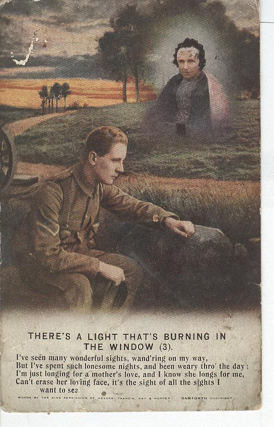 "World War 1 ""There's A Light Burning In The Window"" Story Card"