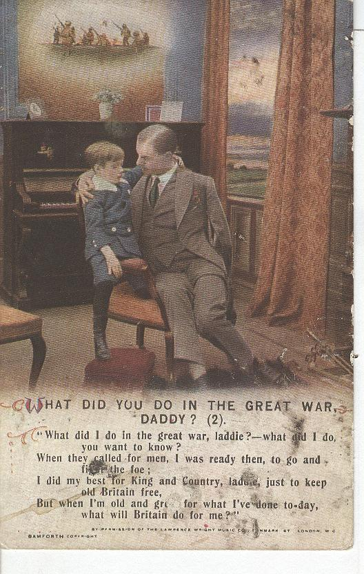 "World War 1 ""What Did You Do In The Great War, Daddy"" Story Card"