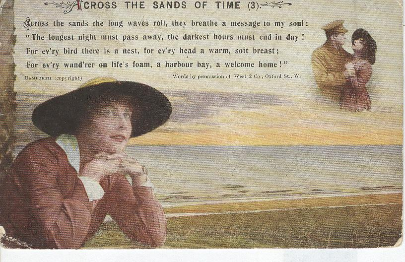 "World War 1 Across The Sands of Time"" Story War Postcard"
