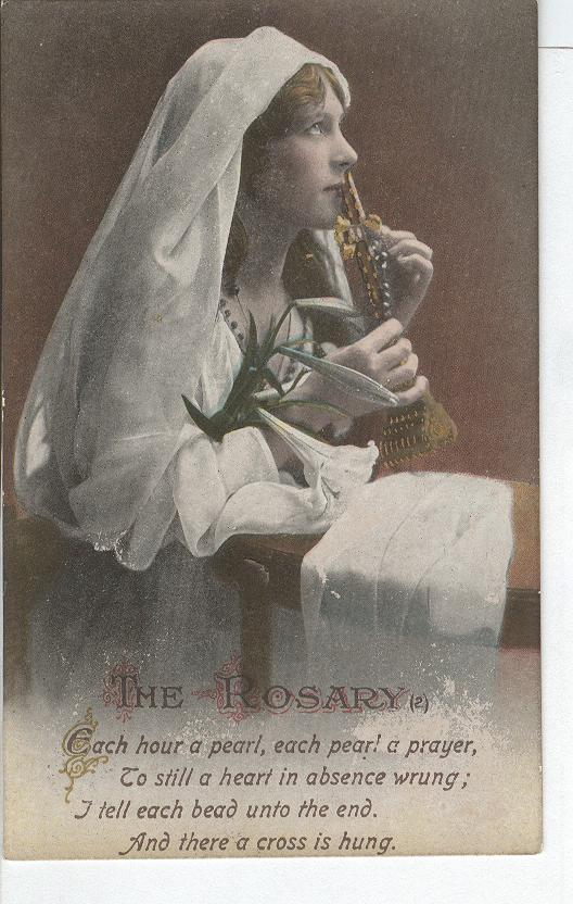 "World War 1 ""The Rosary"" Story War Postcard"