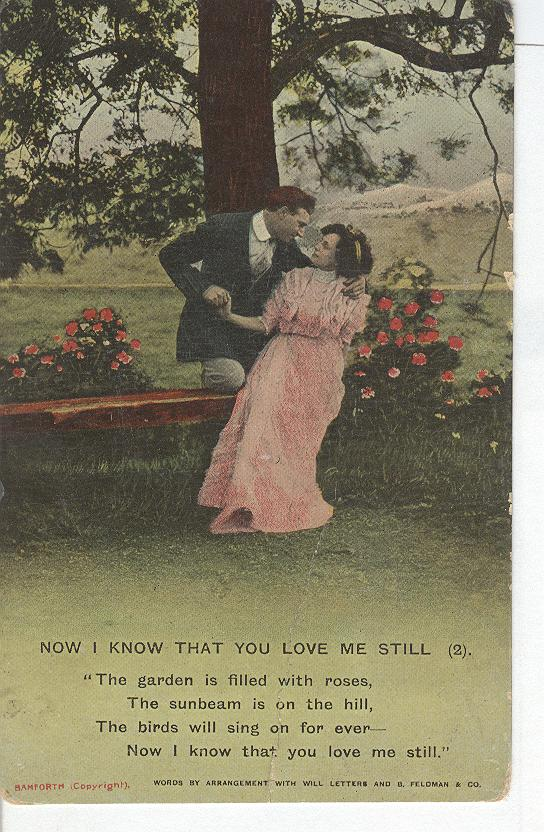 "World War 1 ""Now I Know That You Love Me Still"" Story Postcard"