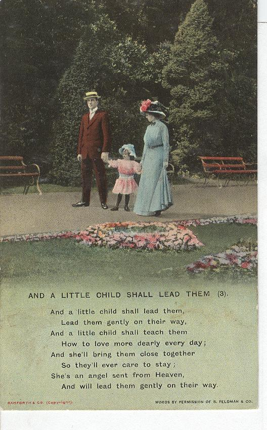 "World War 1 ""And A Little Child Shall Lead Them"" Story Postcard"